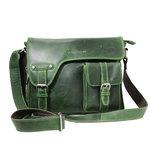 Rundleren messenger bag, groen - Arrigo