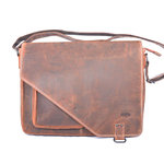Messenger bag XL cognac buffelleer - Arrigo
