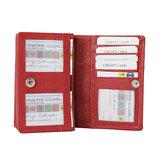 Rundleren RFID portemonnee medium size, rood - Arrigo