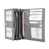 Dames portemonnee met RFID van grijs leer - Arrigo.nl