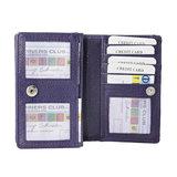 Rundleren RFID portemonnee medium size, aubergine - Arrigo