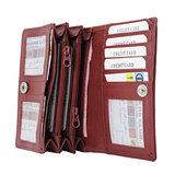 Dames portemonnee met RFID van donkerrood leer - Arrigo.nl