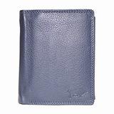 Rundleren euro portemonnee in de kleur donkerblauw - Arrigo