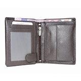 Rundleren euro portemonnee in de kleur donkerbruin - Arrigo