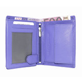 Rundleren euro portemonnee in de kleur paars - Arrigo