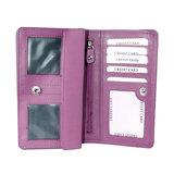 Rundleren harmonica portemonnee met losgeld vak, roze - Arrigo