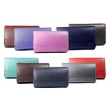 Rundleren RFID harmonica portemonnee met losgeld vak, lichtblauw - Arrigo
