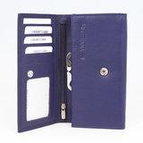 Aubergine kleurige dames portemonnee met knipsluiting van Arrigo