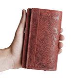 Bloemenprint dames portemonnee in de kleur rood - Arrigo