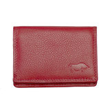 Compacte portemonnee, rood leer - Arrigo