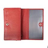 Leren dames portemonnee gemaakt van rood leer - Arrigo.nl