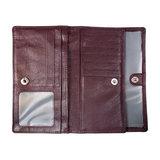 Ruime harmonica portemonnee gemaakt van donkerrood leer - Arrigo