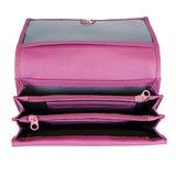 Ruime harmonica portemonnee gemaakt van roze leer - Arrigo
