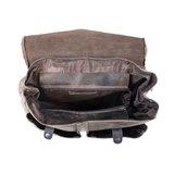 Rugzak gemaakt van donkerbruin buffelleer - Arrigo