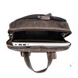 Laptop rugtas gemaakt van donkerbruin buffelleer - Arrigo