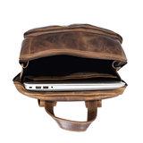 Laptop rugtas gemaakt van gewaxt leer - Arrigo