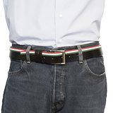 Leren Riem Van Arrigo Met Italiaanse Vlag