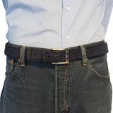 Suede riem - donkerblauw 3.5 cm breed - Arrigo