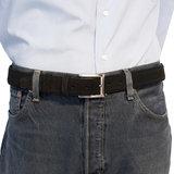 Suede riem - zwart 3.5 cm breed - Arrigo