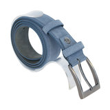Suede riem - lichtblauw 3.5 cm breed - Arrigo