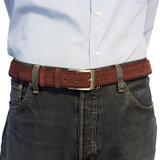 Suede riem - bordeaux rood 3.5 cm breed - Arrigo