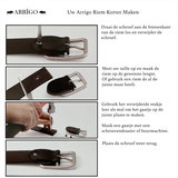 Uw Arrigo riem korter maken