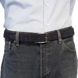 Suede riem - paarsblauw 3.5 cm breed - Arrigo