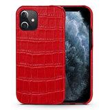 iPhone 12 Pro cover rood leer - Arrigo.nl