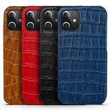 iPhone 12 Pro Max cover donkerblauw leer - Arrigo.nl