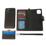 iPhone 8 Plus hoesje van zwart leer - Arrigo.nl