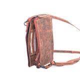 Cognac buffelleren portemonnee tasje XL - Arrigo