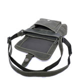 Zwart buffelleren schoudertasje - Arrigo