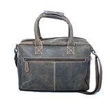 Buffelleren westernbag XL, donkerbruin - Arrigo