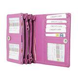 Rundleren portemonnee medium size, roze - Arrigo