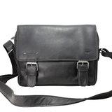 Leren messenger bag zwart - Arrigo