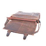 Buffelleren messenger bag met klep, cognac - Arrigo