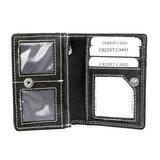 Buffelleren portemonnee, zwart medium - Arrigo