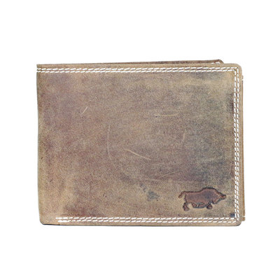 Buffalo billfold men's wallet in the color cognac