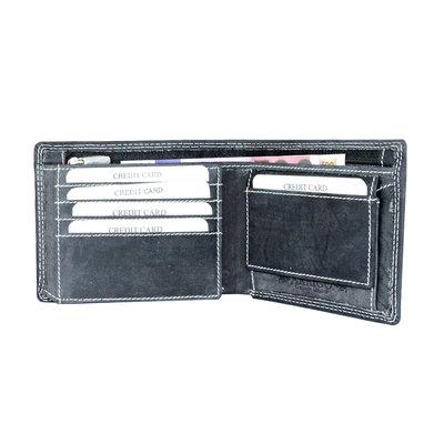 Billfold heren portemonnee gemaakt van zwart buffelleer