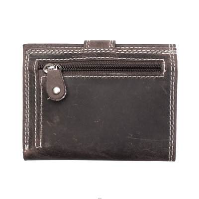 Buffalo leather cardholder in the color dark brown