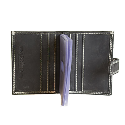Buffalo leather cardholder in the color black