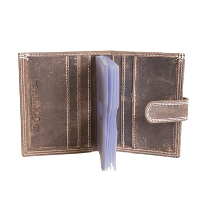 Anti-skim card holder made of buffalo leather in the color cognac / natural