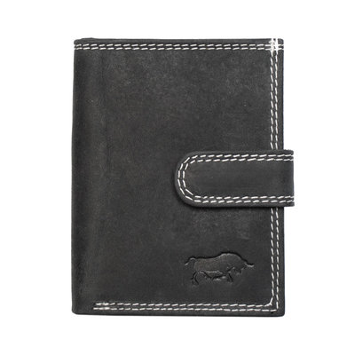 Anti-skim card holder made of buffalo leather in the color black