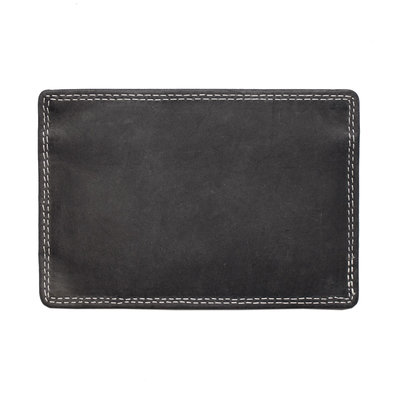 Card holder made of black buffalo leather