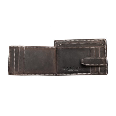Card holder made of dark brown buffalo leather