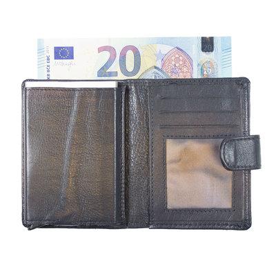 Pasjeshouder met cardprotector gemaakt van donkerblauw rundleer