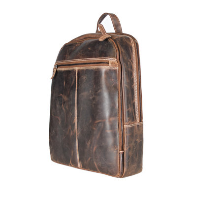 Laptop Backpack from Trendy Cognac Colored Buffalo Leather
