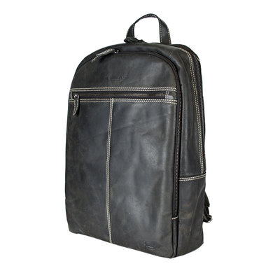 Laptop Backpack From Trendy Black Buffalo Leather