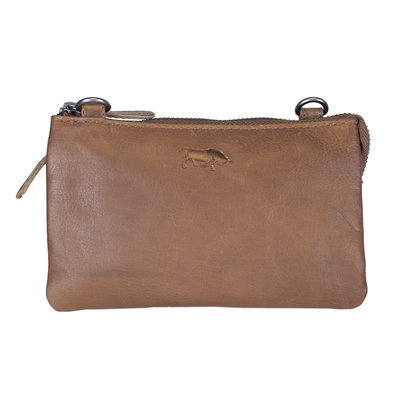 Leather Bag Or Festival Bag Made Of Cognac Coloured Leather
