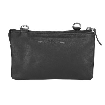 Leather Bag Or Festival Bag Made Of Black Leather